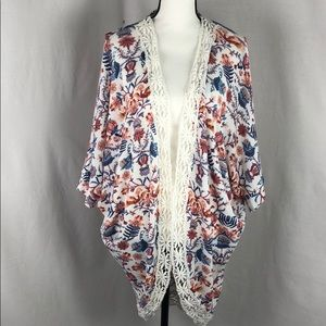 Olive + Oak Womens Cardigan Boho Top Size large